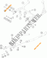 DESCANSO LATERAL / CENTRAL para KTM 1190 ADVENTURE ABS GREY 2014