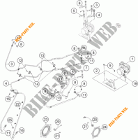 SISTEMA DE TRAVAGEM ABS para KTM 1190 ADVENTURE ABS ORANGE 2013