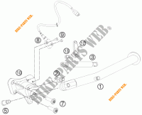 DESCANSO LATERAL / CENTRAL para KTM 990 SM-T ORANGE ABS SPECIAL EDITION 2011