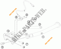 DESCANSO LATERAL / CENTRAL para KTM 990 SUPERMOTO T WHITE ABS 2011