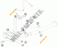 DESCANSO LATERAL / CENTRAL para KTM 990 SUPERMOTO T BLACK ABS 2011